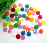 300pc Mixed Cute Resin Rose Flower Round Flatback Cabochon Craft 10mm
