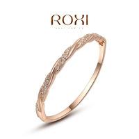 Wholesale ROXI Fashion Accessorie Jewelry Full CZ Diamond Austria Crystal with SWA Element Cross Pattern Bangle for Women