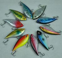 10pcs/lot New Bass Trout Fishing Hard Lures Vibration VIB Lipless Hook Tackle Crankbaits