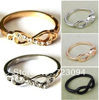 Min.order is $10 (mix order) Women Fashion Punk Rock Infinite Infinity Bowknot Charms Finger Ring Rings Gift ZYJ60