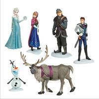 [2014 new]Frozen Figure Play Set Anna Elsa Hans Kristoff Sven Olaf 6pcs/set  high quality classic toys[Free shipping]
