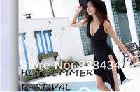 Victoria swimsuit female Siamese split thin waist black skirt type bikini swimsuit Spa