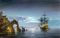 Frameless picture DIY digital oil painting seascape 40 50 sailing ship paint by number kits unique gift