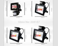 10Pcs/lot 10W New PIR Motion sensor LED Floodlight Light Induction Sense lamp 12~24V dy-104