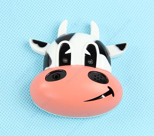 E93Infrared Sensitization Fridge Magnet Cute Cartoon Cow Recording Player RecordFree Shipping wholesale/retail(China (Mainland))