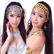 E93Free envio Belly Stylish dança dançar Coin lantejoulas Faixa de Cabelo Headbands(China (Mainland))