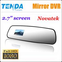 "Rearview Mirror Car DVR Recorder camera Full HD 1920*1080P +2.7""LCD+Built-in G-Sensor car black box"
