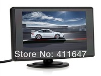 Free Shipping, 4.3 inch Car Rear view Monitor TFT Color LCD Monitor DVD VCR with 2 Video Input