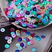 Shining Candy color Clothes accessories multicolour paillette bumpmaps 6mm sequins 50g/lot
