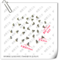 1.7*3 PA Pan / round head philips self tapping screw / micro precision screw steel nickle plated or black zinc 1000pcs/lot