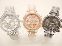 Lady dress watch Mnichael watch, fashion rhinestone watch, 1pc/lot Free Shipping high quality popular watch