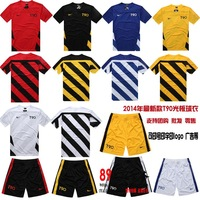 T90 paintless blank soccer jersey uniforms football training suit 2014 soccer jersey