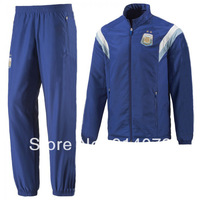 14-15 World Cup Argentina blue tracksuit, Free shipping Argentina football presentaion tracksuit, thai quality  soccer uniform