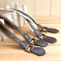 Canvas PU faux leather bag handle belt , 63cm bag handle