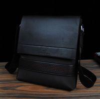 Men's Casual Business Oxford Patchwork PU leather Messenger Bag Brand Shoulder Bag Briefcase Black Brown Blue BG147