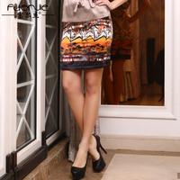 Fashion silk short skirt all-match bust skirt mulberry silk print silk skirt step
