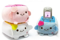 Kawaii 20PCS Plush Stuffed Toy; Japan TOFU DOLL ; Cell Mobile Phone Stand Holder Pouch Case; CAR Phone Stand Holder Doll Rack