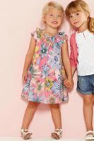 Girls Dress 100% cotton 2014 summer flower child clothing baby dress Bohemian style girl print princess dress summer child dress