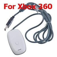 White PC USB Gaming Receiver Wireless Joypad Remote Game Controller Console Gamepad for Xbox 360 Slim For Microsoft Windows 7