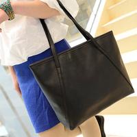 Free Shipping Black Leather Fashion Luxury Lady Ladies Women Woman Shoulder Handbag Bag  ILDJ1022