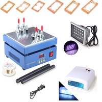 LCD Separator Machine for IPHONE SAMSUNG LCD TOUCH SCREEN REPAIR Machine with 20W UV Light  6 molds Nain Dryer