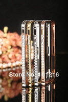 100pcs, For iPhone 5 5G 5s 2 line Diamond Bumper Frame Cases need screw Crystal Cover Luxury Rhinestone Bling case For iPhone5