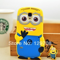 For Samsung Galaxy S5 3D Cute Despicable Me Minion Soft Rubber Silicone Cases Back Cover For Samsung i9600 Case 1pcs/lot