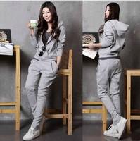 Women's 2014 spring fashionable casual set twinset all-match plus size sweatshirt sportswear