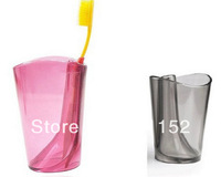 Home personal care New idea fashion two in one muti-function antiscale tumber and toothbrush holder-120pcs/lot