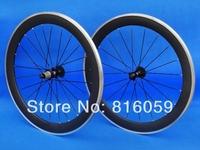 Cycling Wheel 60mm -  Full Carbon Matt Clincher Rim with Alloy Brake Surface 700C Road Bike Wheelset  8/9/10/11s
