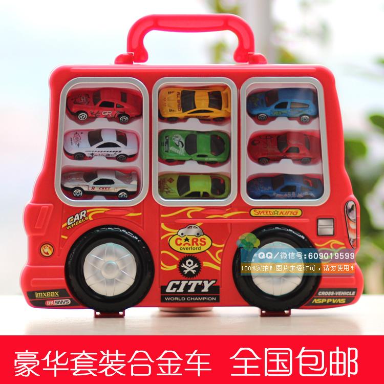 Alloy car toy car large coach set automobile race car model toy(China (Mainland))