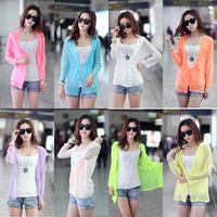 428 sun protection clothing long-sleeve transparent sun protection clothing cardigan spring coat female sunscreen shirt