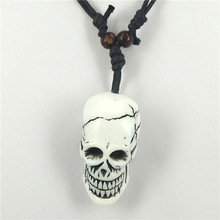Free shipping 1pcs Tibetan Yak bone carving skull totem pendant talismans necklace Jewelry