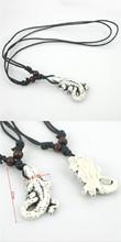 Tibetan white Yak bone carving Crocodile totem pendant supporter talismans necklace Jewelry free shipping