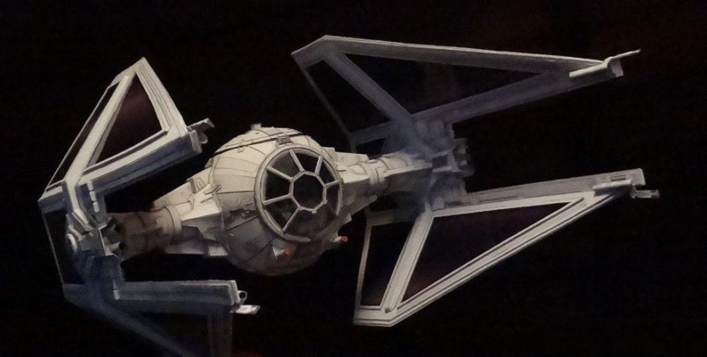 Звездные войны истребитель изысканные версия плотной бумаги рукоделие бумажная модель.