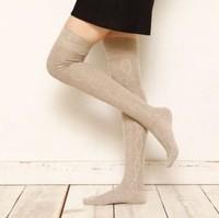 The new spring piles cotton knee socks diamond pattern stockings  golfs nurseries free shipping wz3321