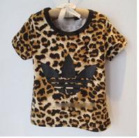 baby girls T-shirt kids children leopard short sleeve 2014 summer Boys tee shirt 0327 sylvia 38086155074