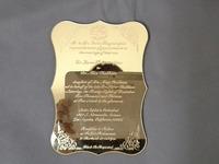 Special acrylic wedding card for Darmael