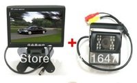 Free Shipping ,7inch LCD Monitor Bus Lorry Car Rearview Waterproof Reversing Camera & 6M Video Cable