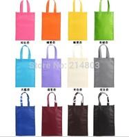 W23xH34xD9.5cm reusable eco-friendly  non-woven shopping bag with customized logo free shipping