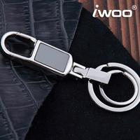 Free shipping Refined m020 authentic car key chain Men's waist key chain Metal key ring Christmas