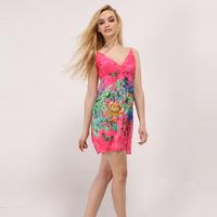 Beach  bohemia   spaghetti strap short skirt    plus size sexy print vintage novelty dress dots stripe plaid