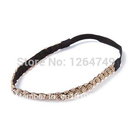 Ribbon and Seed Bead Headwrap(China (Mainland))