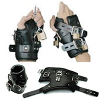 black costume leather adult sexy costumes exotic apparel hand-cuffs sex toys free shipping/SM259