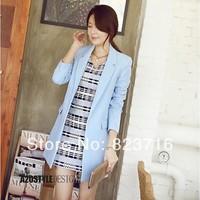 Free shopping 2014 women's medium-long jacket female plus size jacket spring fashion coat
