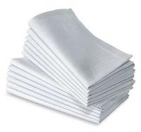 100PCS PER LOT 100% polyester STAIN plain white napkin promotion