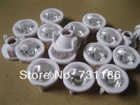 free 10pcs 120 Degree LED Lens with Three Pin Holder for 1 3 5W led #w