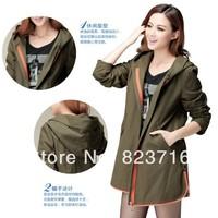 New arrival 2014 female plus size coat spring outerwear fashion women clothes size XL XXL XXXL