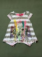 Retail New 2014 Summer Hot Girl Fashion Clothing monster high clothing brand children t shirts girls t-shirts short sleeve 6T 7T