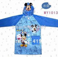 Raincoat Kids children boys girls Animal Minnie Mickey Hello kitty cartoon Rainwear Rainsuit  excellent quality 2014 hot sale